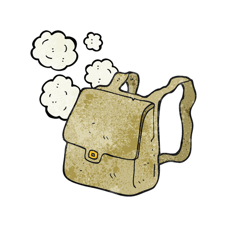 satchel: freehand textured cartoon satchel Illustration