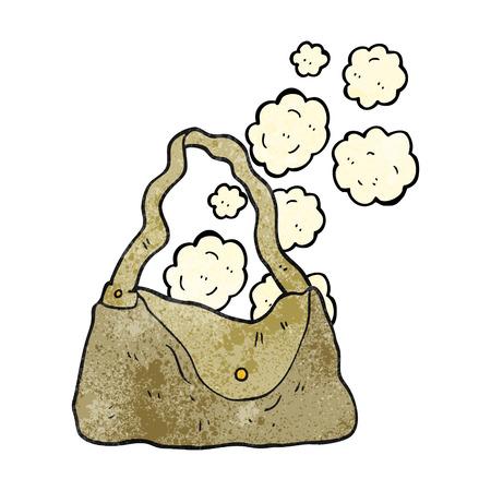 textured: freehand textured cartoon handbag