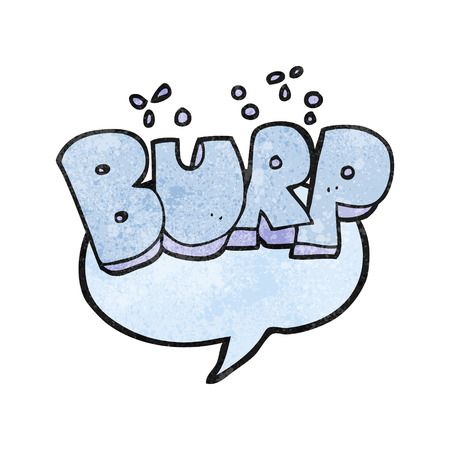 belch: freehand textured cartoon burp symbol