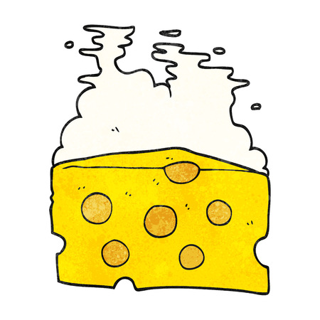 textured: freehand textured cartoon cheese Illustration
