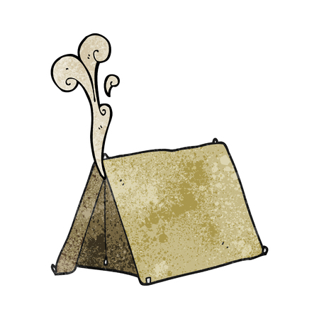 smelly: freehand textured cartoon old smelly tent Illustration