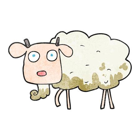 muddy: freehand textured cartoon muddy goat