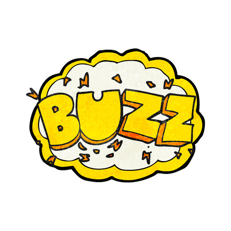 buzz: freehand textured cartoon buzz symbol