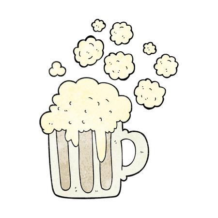 foamy: freehand textured cartoon foamy beer Illustration