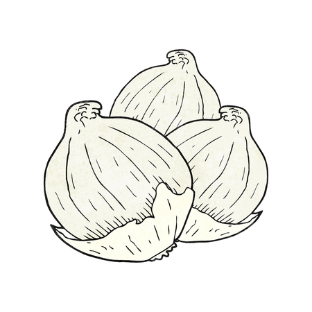 onions: freehand textured cartoon onions