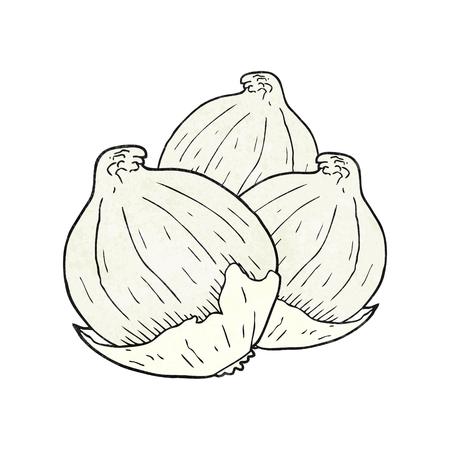 onions: freehand textured cartoon onions