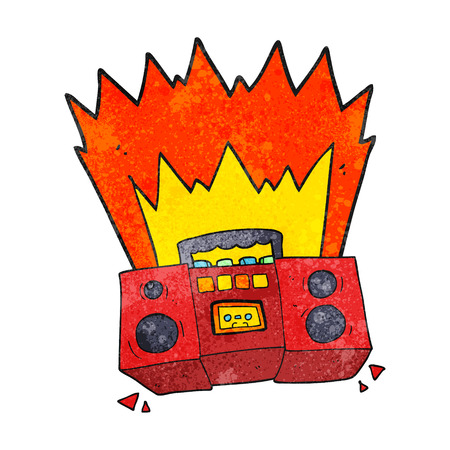 boom box: freehand textured cartoon boom box