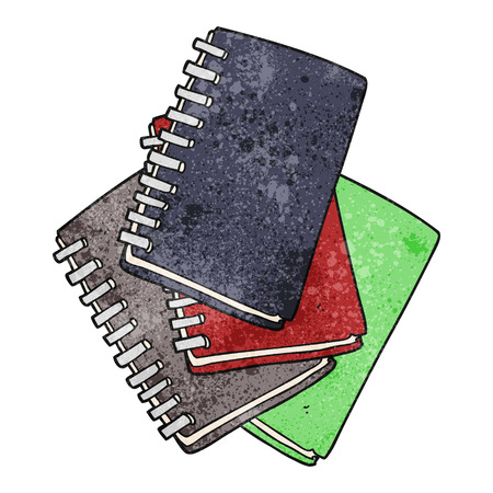 note book: freehand textured cartoon note book