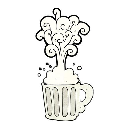stein: freehand textured cartoon exploding beer Illustration