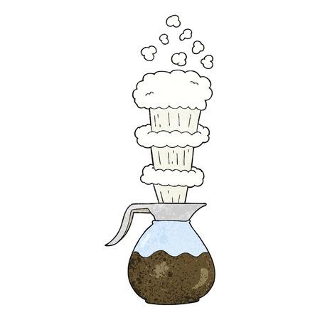 jug: freehand textured cartoon extra strong coffee jug