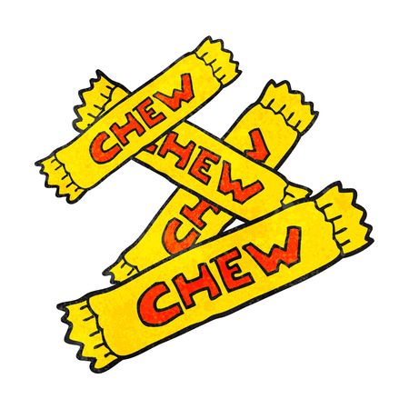 chew: freehand textured cartoon chew candy Illustration