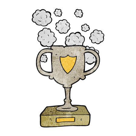 dusty: freehand textured cartoon old trophy