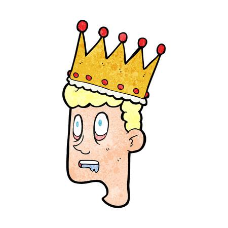 stupor: freehand textured cartoon idiot prince