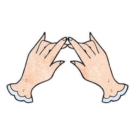 textured: freehand textured cartoon hands