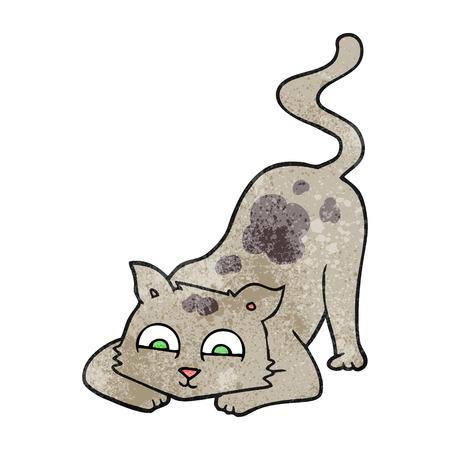 textured: freehand textured cartoon cat