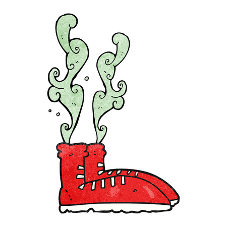 smelly: freehand textured cartoon smelly sneakers Illustration