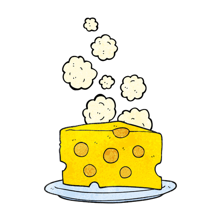 holey: freehand textured cartoon cheese Illustration