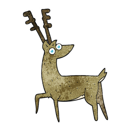 textured: freehand textured cartoon stag