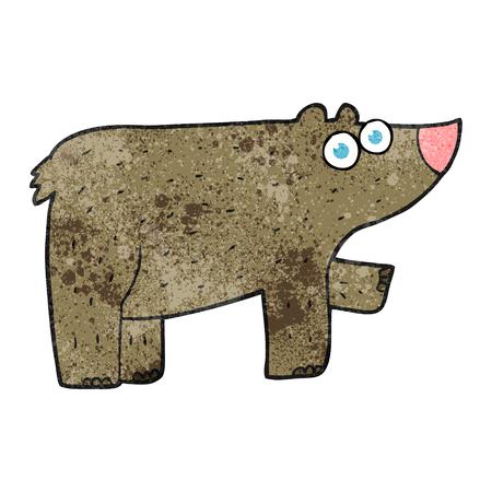 textured: freehand textured cartoon bear