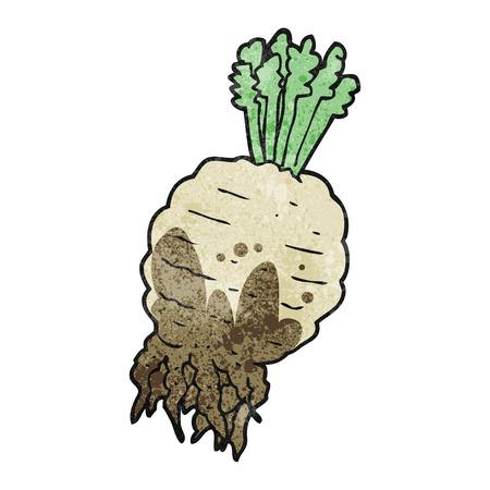 muddy: freehand drawn texture cartoon muddy turnip Illustration