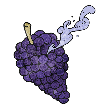 free hand: freehand drawn texture cartoon grapes