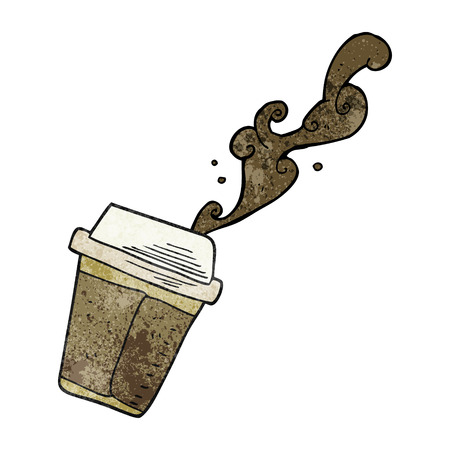 coffee spill: freehand textured cartoon spilling coffee