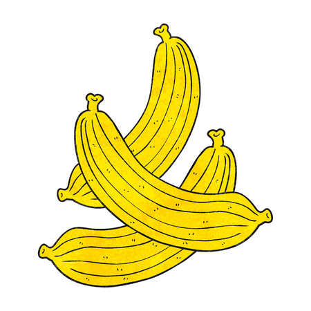 textured: freehand textured cartoon bananas