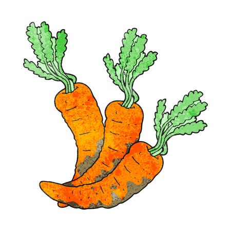 zanahoria caricatura: dibujado a mano alzada zanahorias textura de dibujos animados