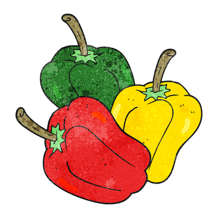peppers: freehand drawn texture cartoon peppers