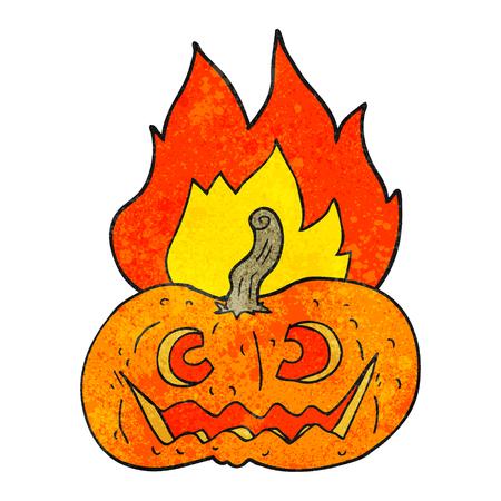 flaming: freehand drawn texture cartoon flaming halloween pumpkin