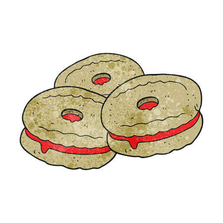 biscuits: freehand drawn texture cartoon biscuits