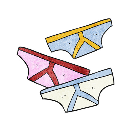 underpants: freehand drawn texture cartoon underpants