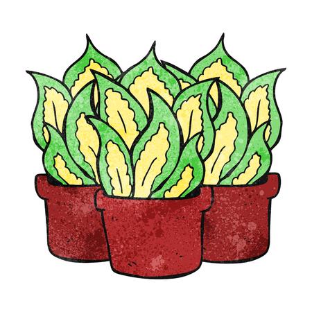 house plants: freehand drawn texture cartoon house plants