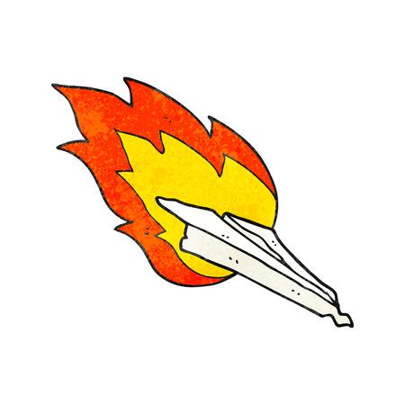 crashing: freehand drawn texture cartoon paper plane crashing Illustration
