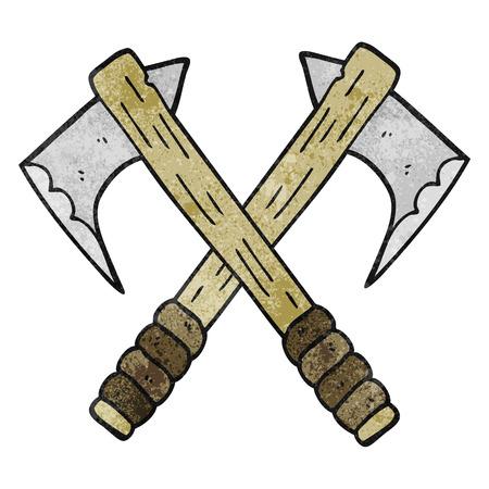 axes: freehand drawn texture cartoon axes