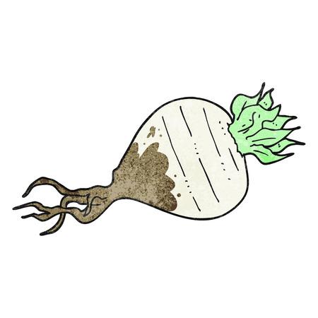 turnip: freehand drawn texture cartoon turnip