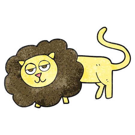 textured: freehand textured cartoon lion