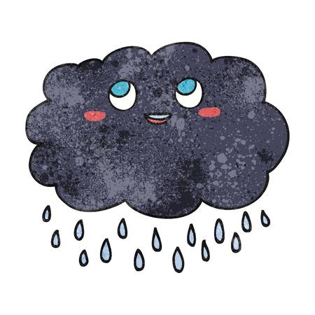 stormcloud: freehand drawn texture cartoon raincloud Illustration