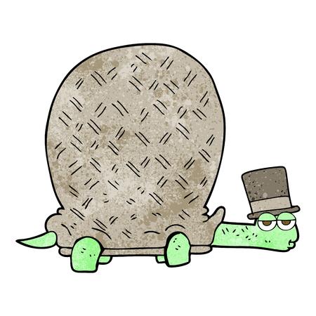 textured: freehand textured cartoon tortoise