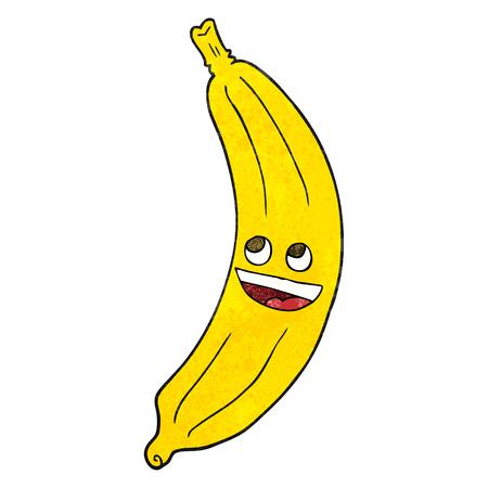 banana illustration: freehand textured cartoon banana Illustration