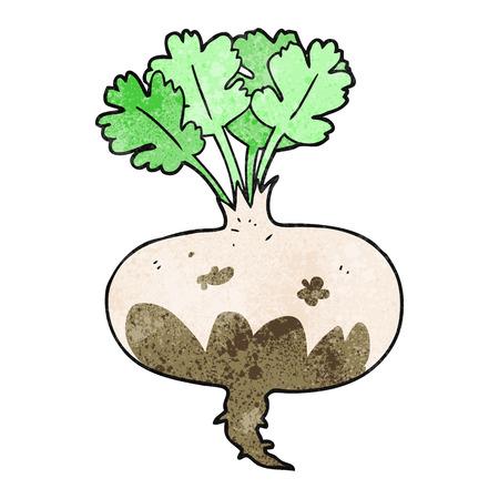 turnip: freehand drawn texture cartoon muddy turnip Illustration