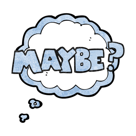 maybe: maybe freehand drawn texture cartoon symbol Illustration