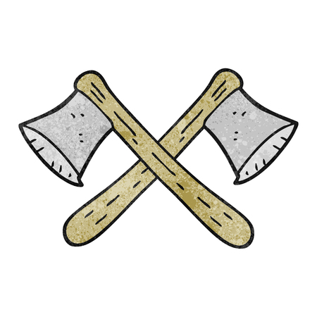 axes: freehand drawn texture cartoon crossed axes