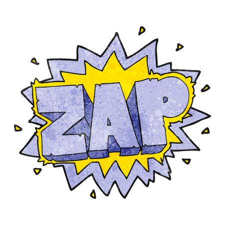 zap: happy freehand texture cartoon zap explosion sign