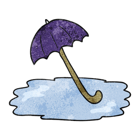 wet: freehand drawn texture cartoon wet umbrella Illustration