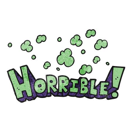 horrible: freehand drawn texture cartoon word horrible