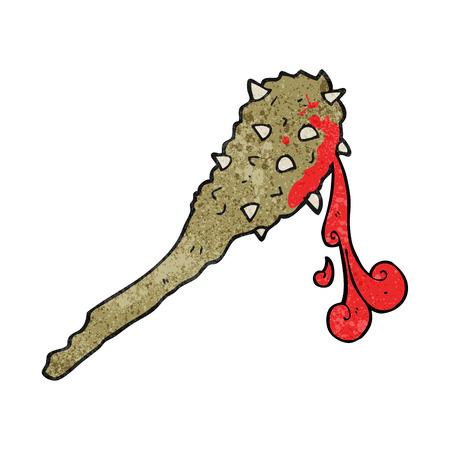 edad de piedra: a mano alzada textura dibujado dibujo animado club de edad piedra sangrienta Vectores