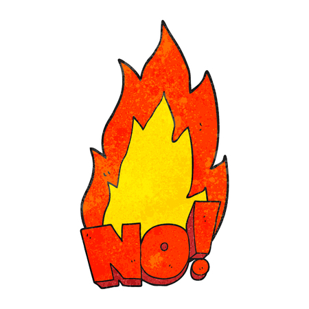 shout: freehand drawn texture cartoon NO! shout Illustration