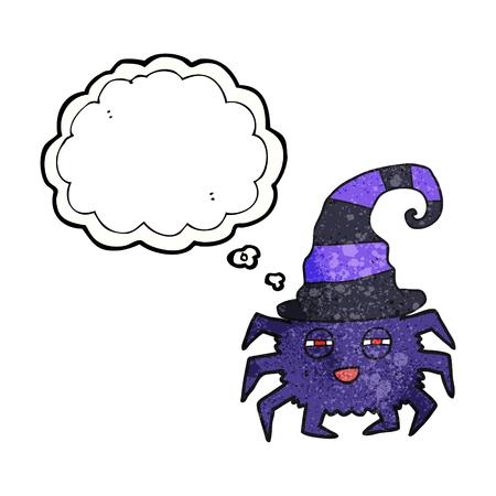 Freihand Gezeichnete Gedanke Blase Texturierte Cartoon Halloween ...