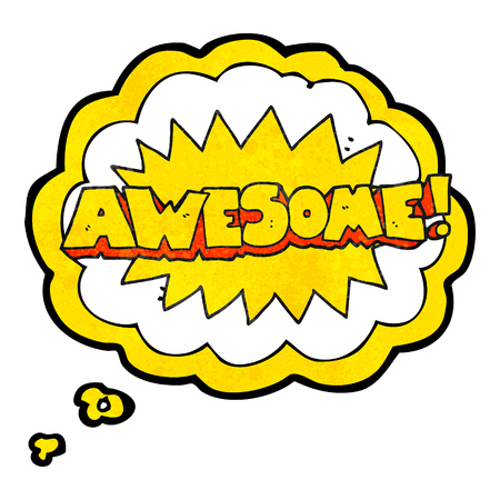 shout: awesome freehand drawn thought bubble textured cartoon shout